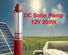 DC Borehole Pump - 1 inch 12V 200W 20M