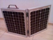 Solar suitcase - 20W with accumulator