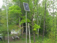 Autonomous solar system for lighting - 225 W, Hut hunting, Rozovo village